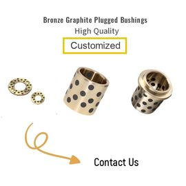 NAAMS Self Lubrication Bronze Graphite Plugged Bushings Metric Size For Sliding Plate