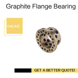 C86300 Manganese Bronze Flange Oilless Bushes Graphite Plugs